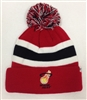 The 47 Brand Breakaway Miami Heat Pom Cuff Beanie Red White