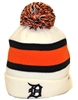 The 47 Brand Breakaway Detroit Tigers White, Orange & Navy Beanie