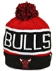 The 47 Brand Calgary Chicago Bulls Black Red White Beanie