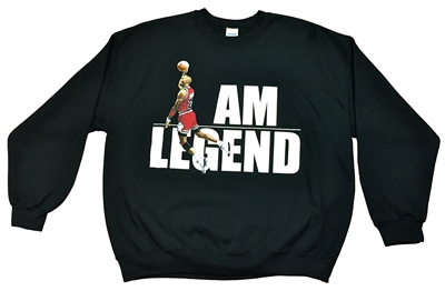 Am Legend Black Long Sleeve Pull Over Sweater