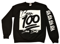 Been 100 Since Birth Black Long Sleeve Pull Over Sweater