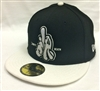 New Era 59Fifty Dissizit! LA Hands L or D Black & White Fitted Cap