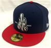 New Era 59Fifty Dissizit! LA Hands L or D Navy & Red Fitted Cap