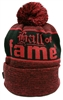 Hall Of Fame Bar & Hook Red & Black Beanie