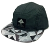 LRG Lifted Research Group Forward Over Future Charcoal, Gray, White & Black 5-Panel Snapback