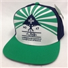 LRG Lifted Research Group Sun Shower Green, White & Navy Snapback