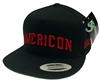 MIghty Healthy & Black Scale Americon Black Snapback