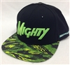 Mighty Healthy Tiger Style Black & Neon Green Snapback