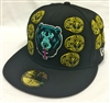 New Era 59Fifty Mishka Death Adders Dynasty Black Fitted Cap