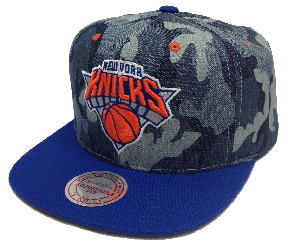 Mitchell   Ness Camouflage Denim New York Knicks Snapback fe299bfba7e