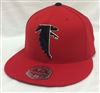 Mitchell & Ness Throwback Atlanta Falcons Red Fitted Cap