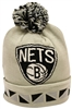 Mitchell & Ness Jacquard Graphic Cuffed Brooklyn Nets Beanie