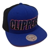 Mitchell & Ness Hang Tag Los Angeles Clippers Blue & Black Snapback