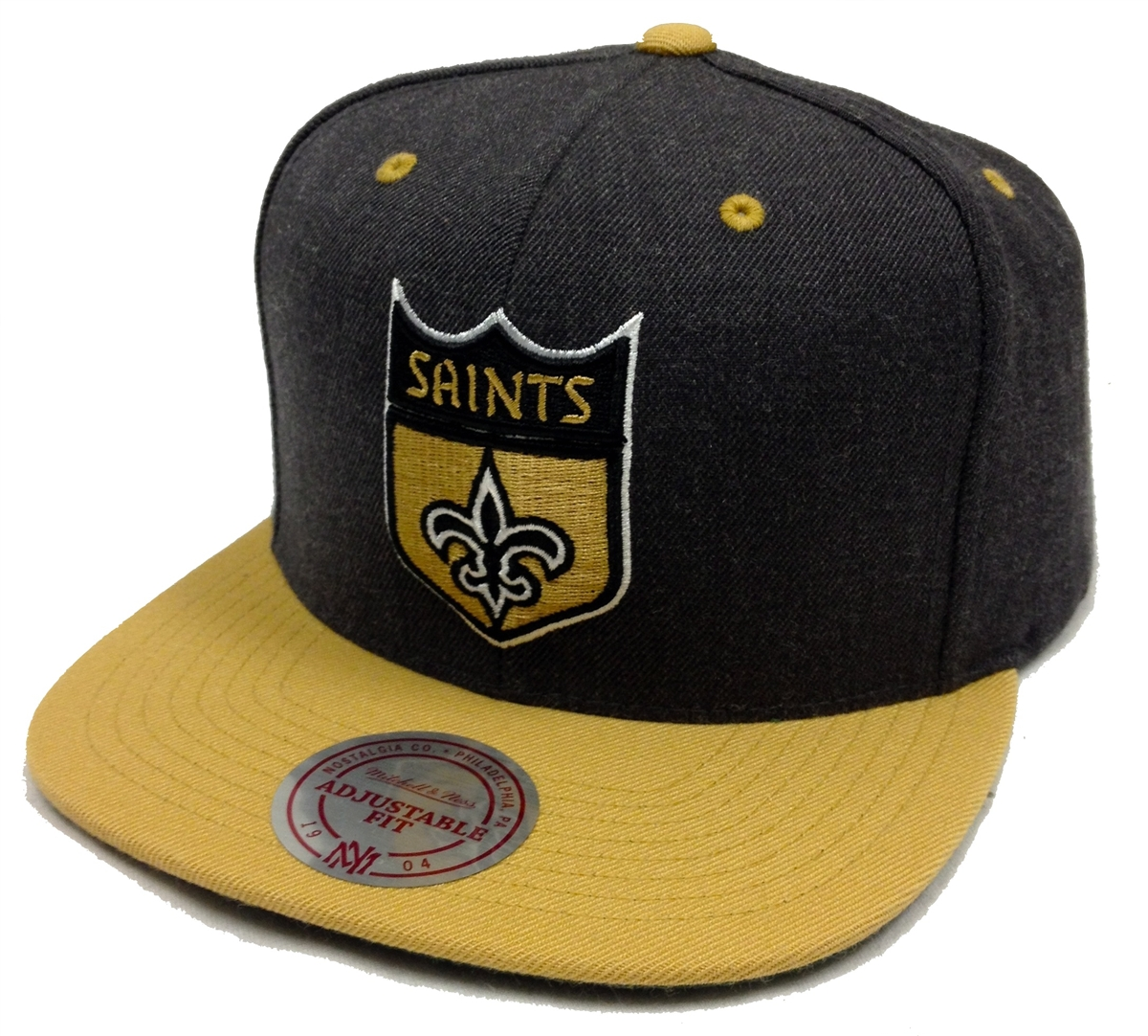 Mitchell   Ness Heather Team Color New Orleans Saints Heather ... 3818dbfa057