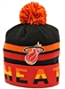 Mitchell & Ness Thick Ribbed Miami Heat Red Beanie