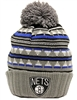 Mitchell & Ness Soft Acrylic Pattern Brooklyn Nets Blue, Gray Beanie