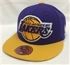 Mitchell & Ness XL Vintage Los Angeles Lakers Purple & Yellow Fitted Cap