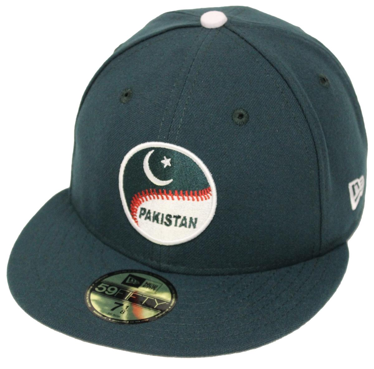 New Era 59Fifty WBC Pakistan Dark Green Fitted Cap 3483e55dbc0