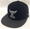 New Era 59Fifty BF Suede Top Chicago Bulls Black & Charcoal Fitted Cap