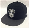 New Era 59Fifty BF Suede Top New York Knicks Black & Charcoal Cap Jordan Oreo Match