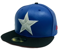 New Era 59Fifty Character Suit Captain America Blue & Black Fitted Cap Winter Soldier