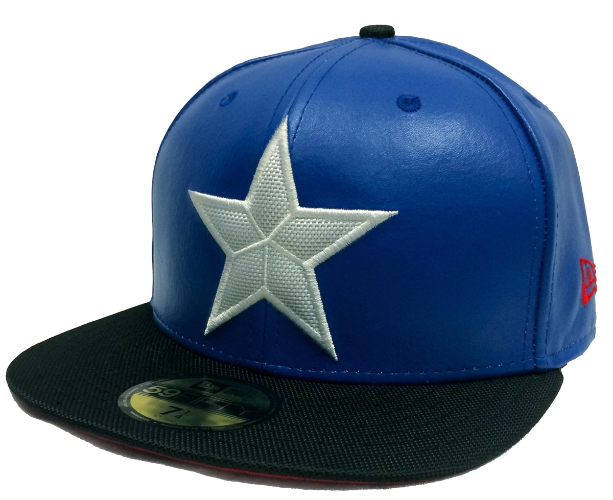 New Era 59Fifty Character Suit Captain America Blue   Black Fitted ... beee1af7594