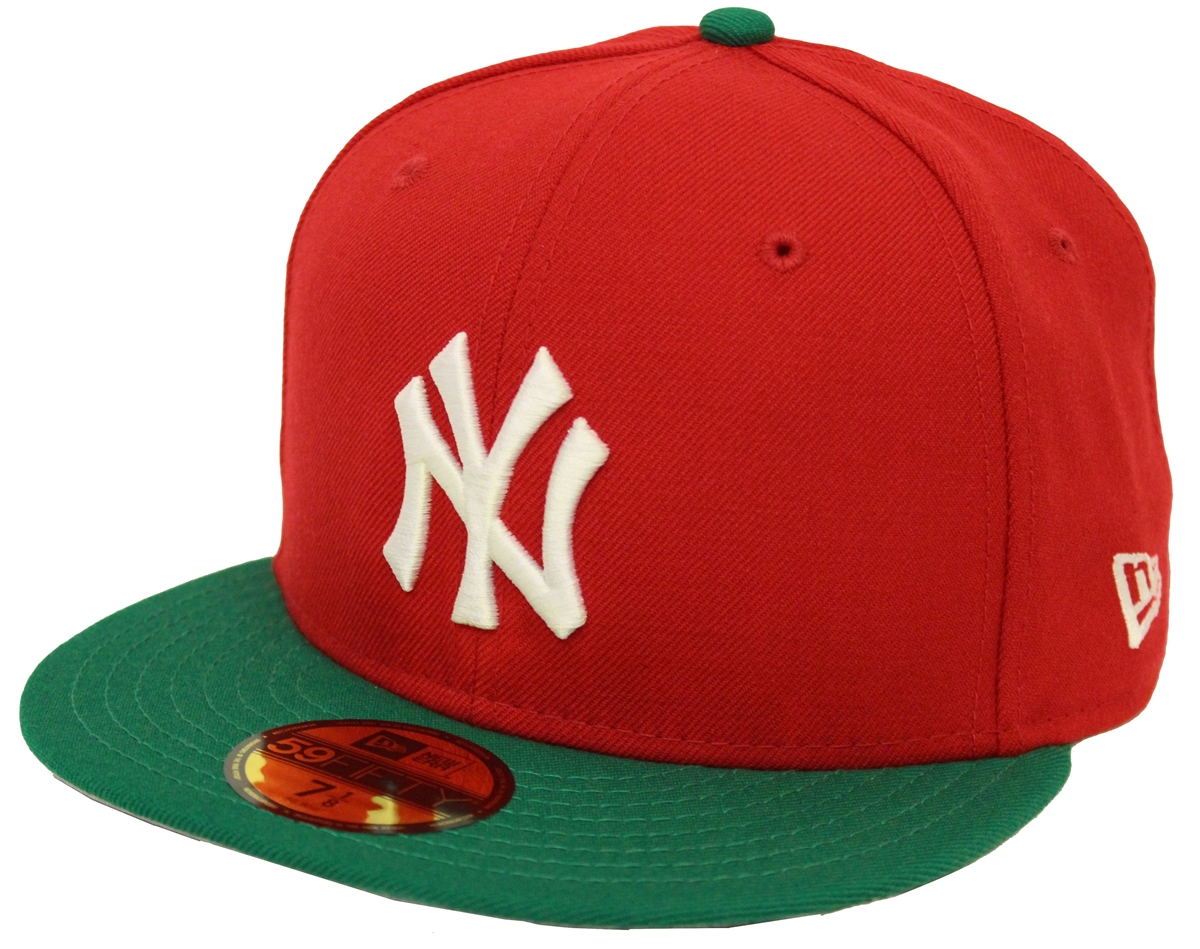 New Era 59Fifty New York Yankees Red Green Fitted Christmas Cap ... 884db021bb2