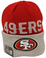 New Era Classic Cover San Francisco 49ers Red Gray Beanie