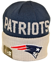 New Era Classic Cover New England Partiots Navy Gray Beanie