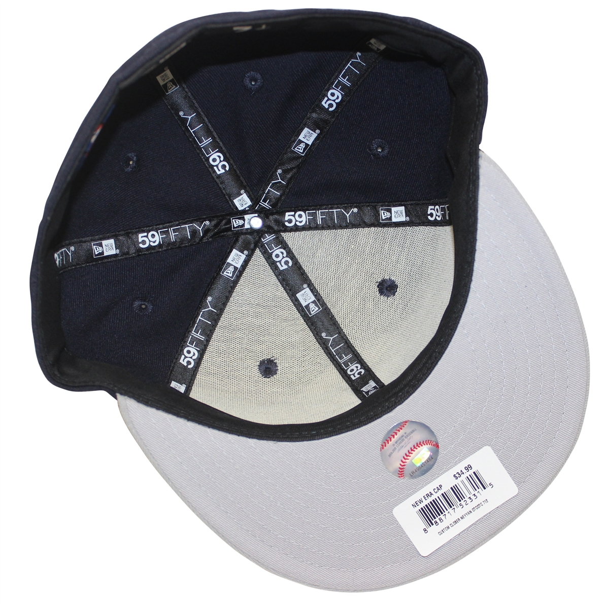 fc8937f0cad New Era 59Fifty Custom Closer New York Yankees Navy Gray Fitted Cap