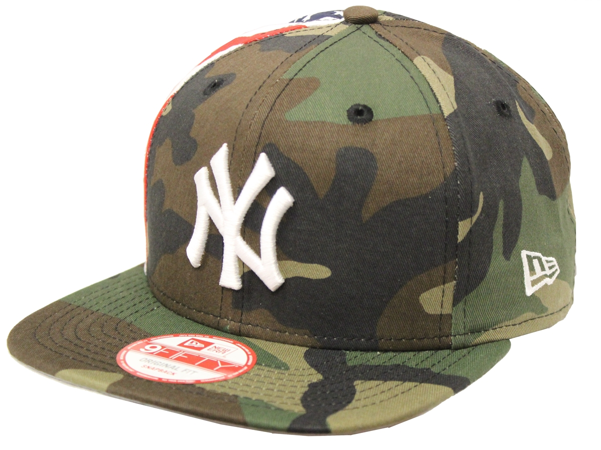 0249d8fc73c New Era 9Fifty Flag Side New York Yankees Camo Snapback
