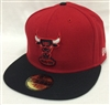 New Era 59Fifty HWC Basic Chicago Bulls Red & Black Fitted Cap