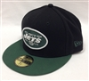 New Era 59Fifty Black Team New York Jets Black & Green Fitted Cap
