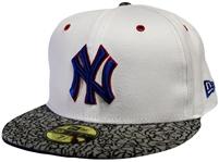 1dafaa1df9c New Era 59Fifty Kicks Hook New York Yankees White And Gray Fitted Hat  Jordan 3 True