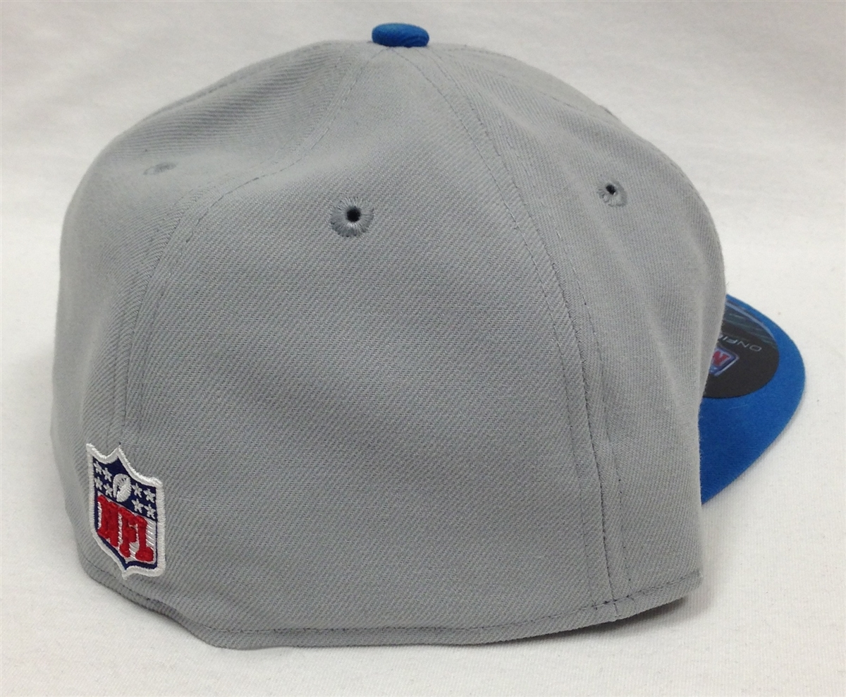 a33f28e206f New Era 59Fifty Detroit Lions Onfield Gray   Blue Fitted Cap