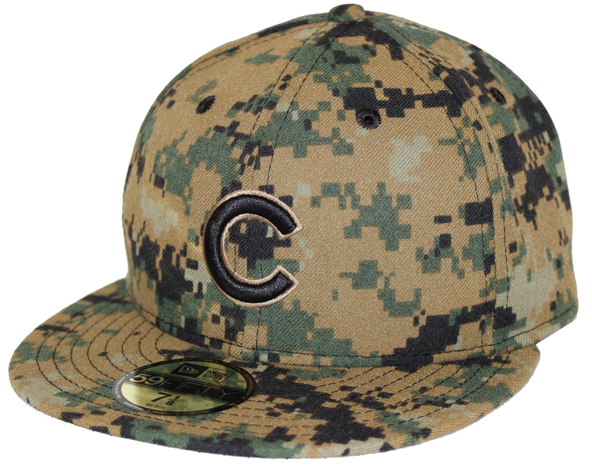 New Era 59Fifty SS16 Memorial Day Chicago Cubs Digi Camo Fitted ... ad40fc40ca0