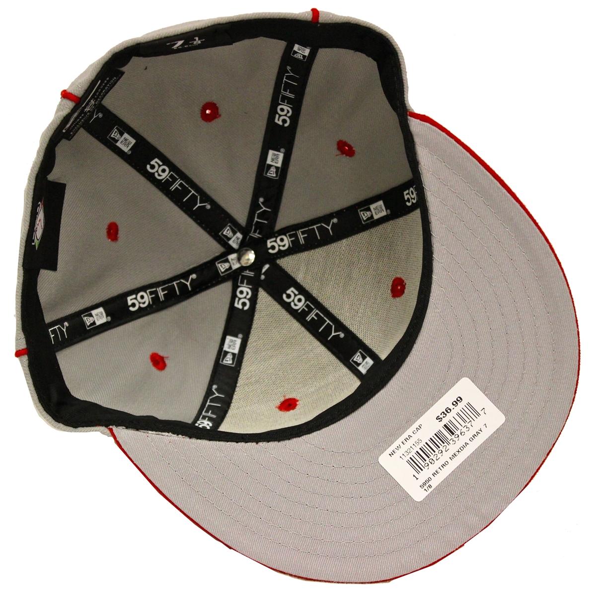 New Era 59Fifty Diablos Rojos del Mexico Gray Red Fitted Cap 7487d9e93657