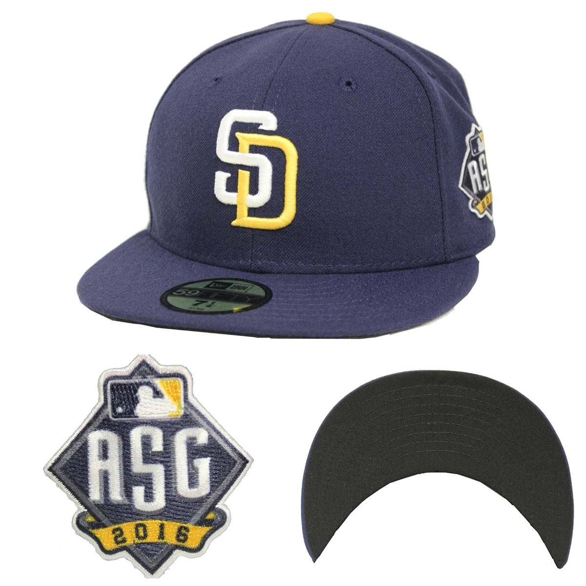 New Era 59Fifty San Diego Padres On Field All Star Game Side Patch ... 97720ea1b29