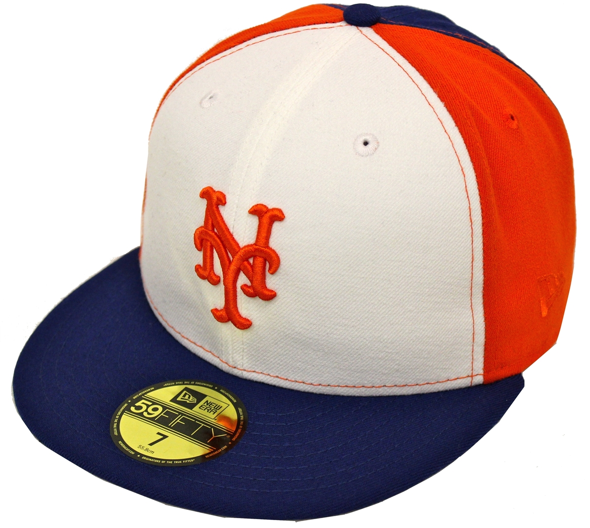 New Era 59Fifty Pinwheel New York Mets White Orange Blue Fitted ... c587a7dd2