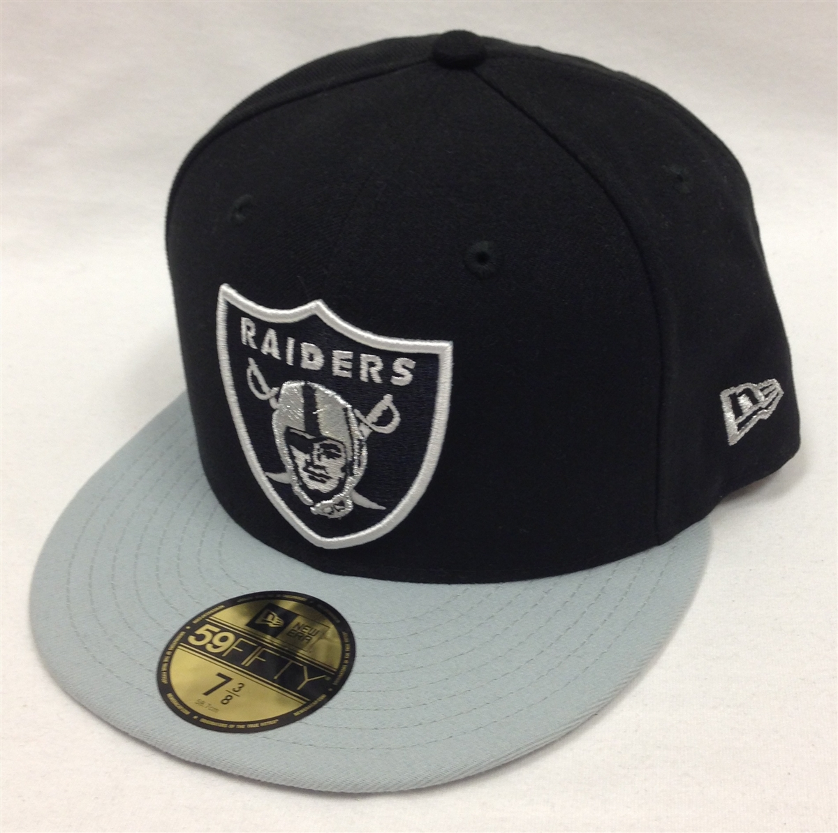 ... inexpensive new era 59fifty black team oakland raiders black gray  fitted cap 6a58f 25d19 a116dc204