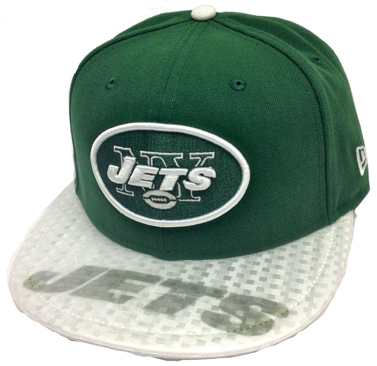 1cc9df5d93c New Era Viza Graph New York Jets Green   White Fitted Cap