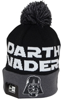 New Era Winter Fresh Darth Vader Black Gray Pom Beanie