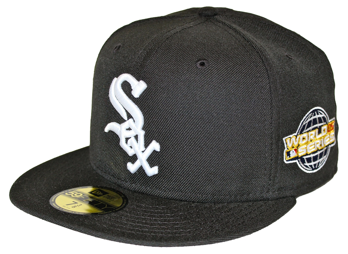 new era 59fifty 2005 world series patch chicago white sox black fitted