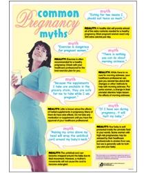 Common Pregnancy Myths Chart