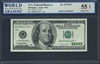 U.S. Federal Reserve, Fr. 2175-E*, Replacement Note, Low Serial Number, 100 Dollars, Series 1996 Signatures: Withrow/Rubin 55 TOP About UNC