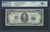 U.S. Federal Reserve, Fr. 2162-G, 100 Dollars, Series 1950 E Signatures: Granahan/Fowler 58 TOP About UNC Choice