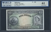 Bahamas, P-15d, 1 Pound, 1936 (1953) Signatures: Higgs/Sweeting/Roberts 61 Uncirculated