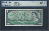Canada, P-084b, 1 Dollar, 1967, 63 TOP UNC Choice