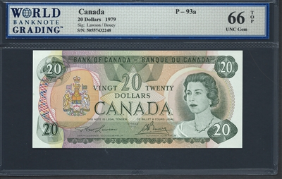 Canada, P-093a, 20 Dollars, 1979, 66 TOP UNC Gem