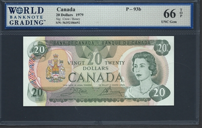 Canada, P-093b, 20 Dollars, 1979, 66 TOP UNC Gem